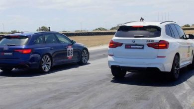 Photo of BMW X3 M Competition против Audi RS4 Avant во драг трка
