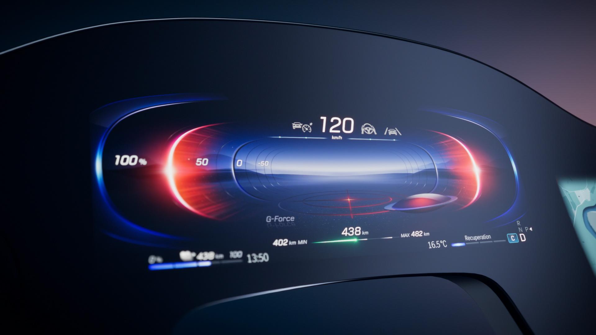 Mercedes продемонстрировал эффектный MBUX Hyperscreen